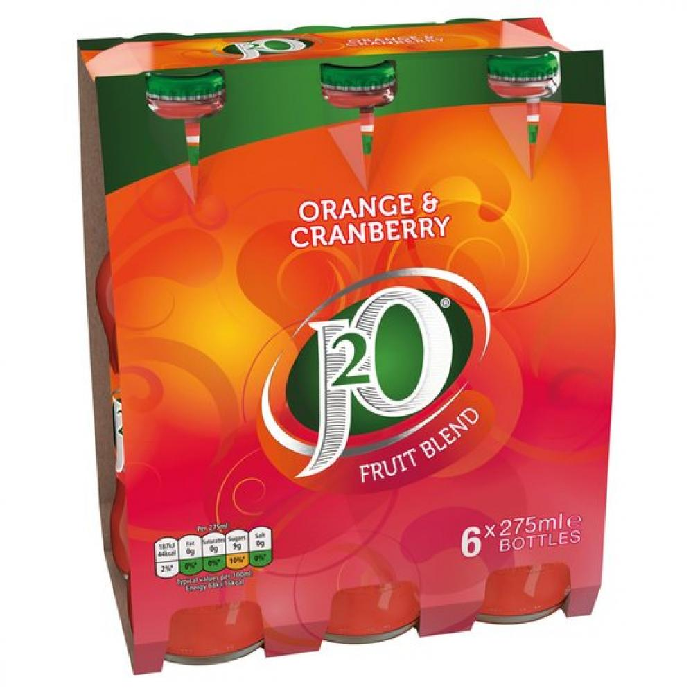 J20 Orange and Cranberry Fruit Blend 6 x 275ml