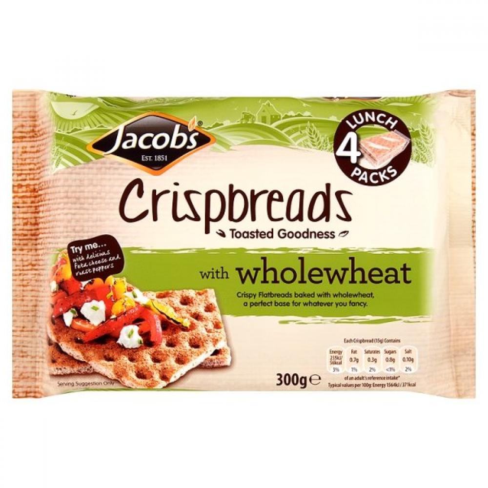 Jacobs Crispbreads Wholewheat 300g