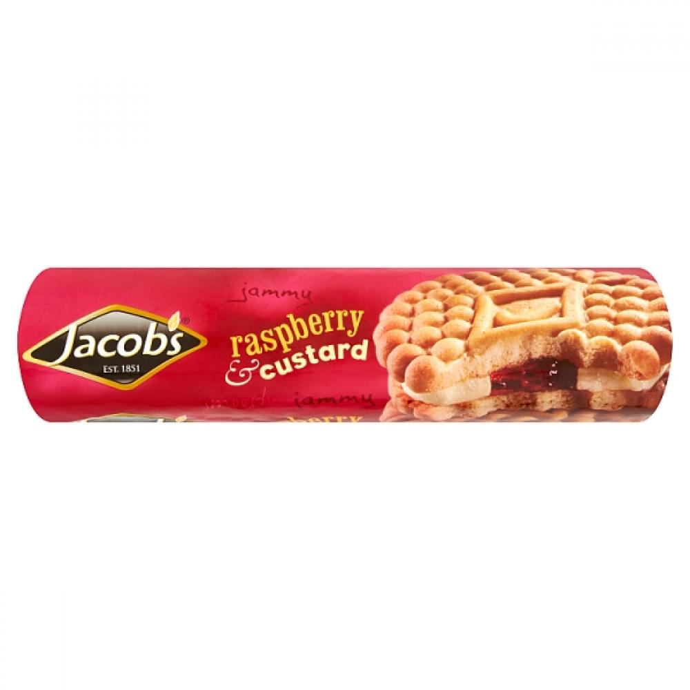 Jacobs Raspberry and Custard Creams 200g