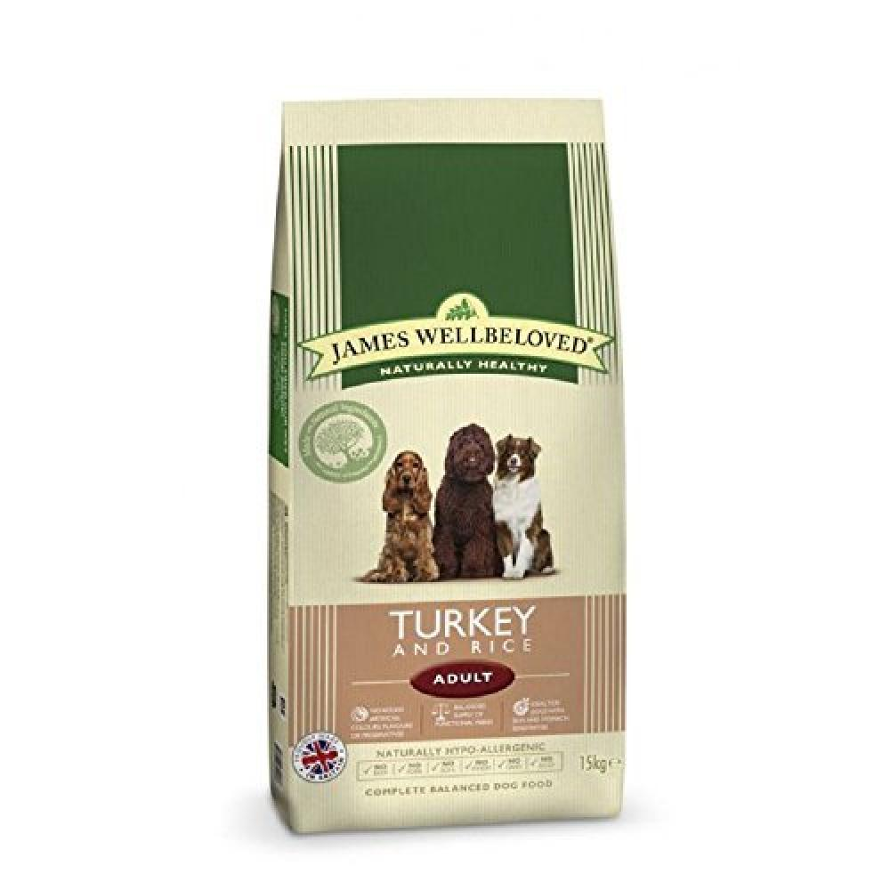 WEEKLY DEAL  James Wellbeloved Adult Dog Food Turkey and Rice 15kg