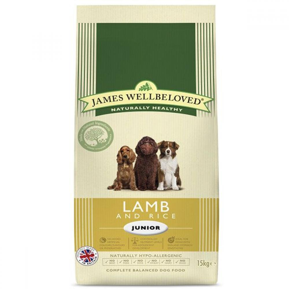 James Wellbeloved Dog Food Junior Lamb and Rice Kibble 7.5kg