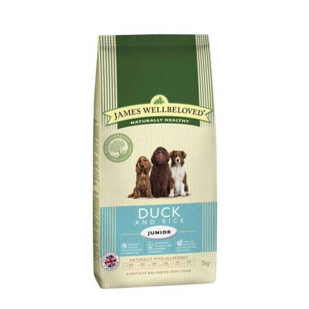James Wellbeloved Dog Food Junior Duck and Rice 15kg