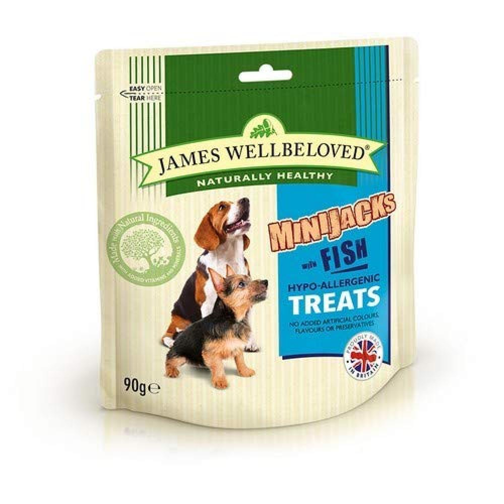 James Wellbeloved Minijacks with Fish for Dogs 90g