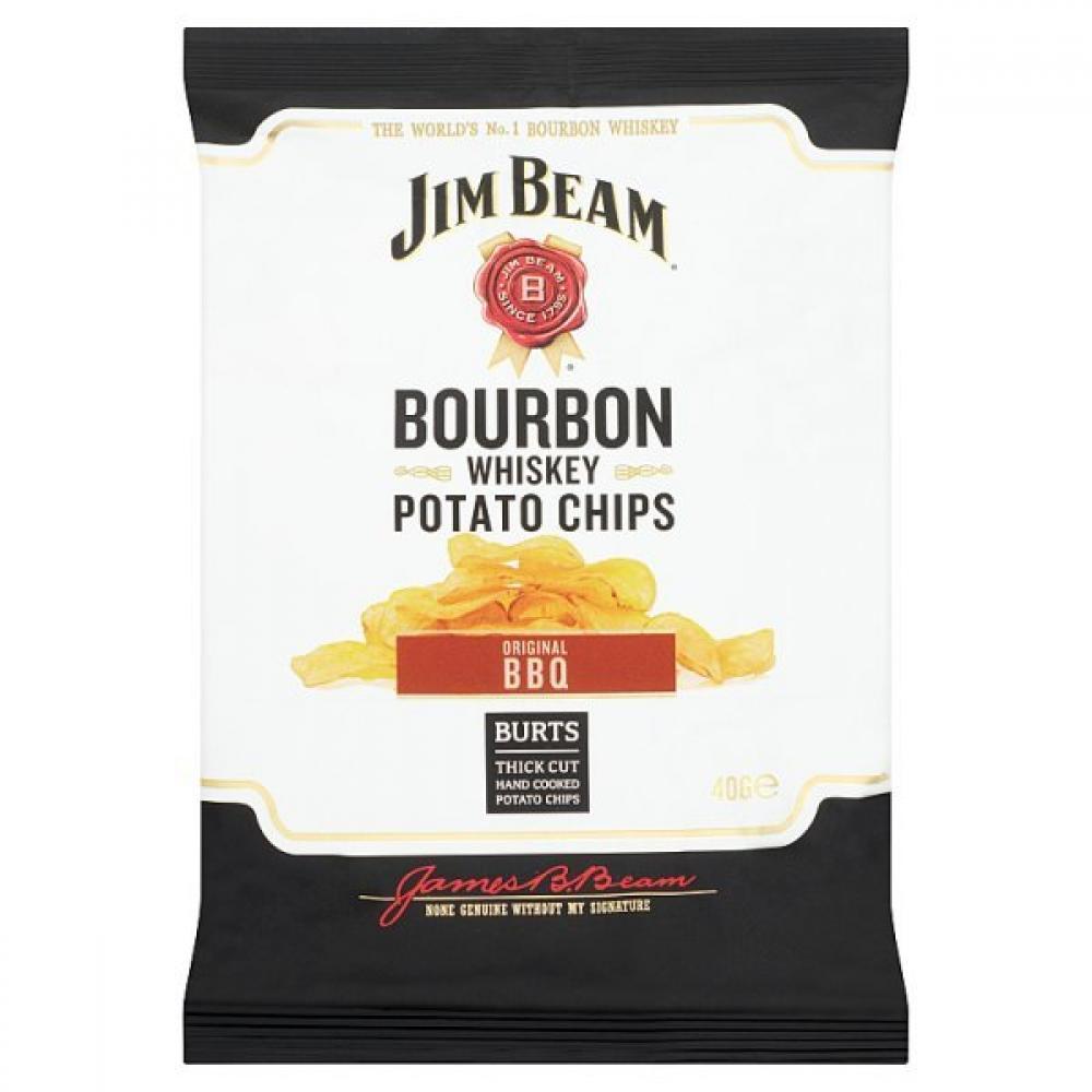 TODAY ONLY  Jim Beam Bourbon Whiskey Potato Chips Original BBQ 40g