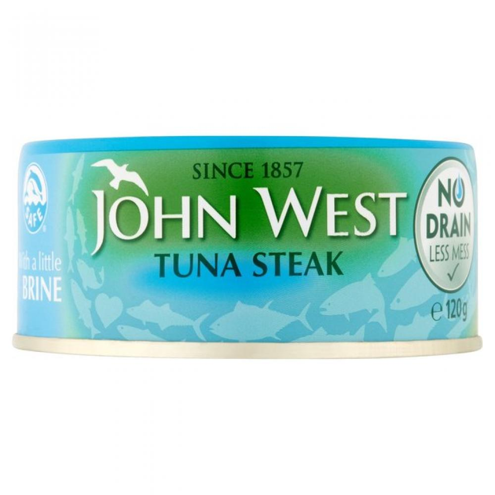 John West Tuna Steak in Brine No Drain 120g