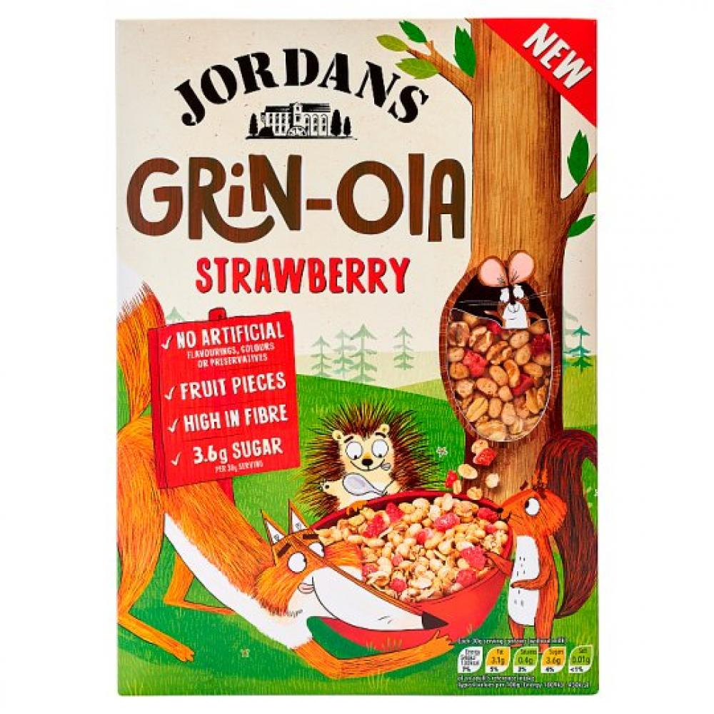 Jordans Kids Grinola Strawberry 400g