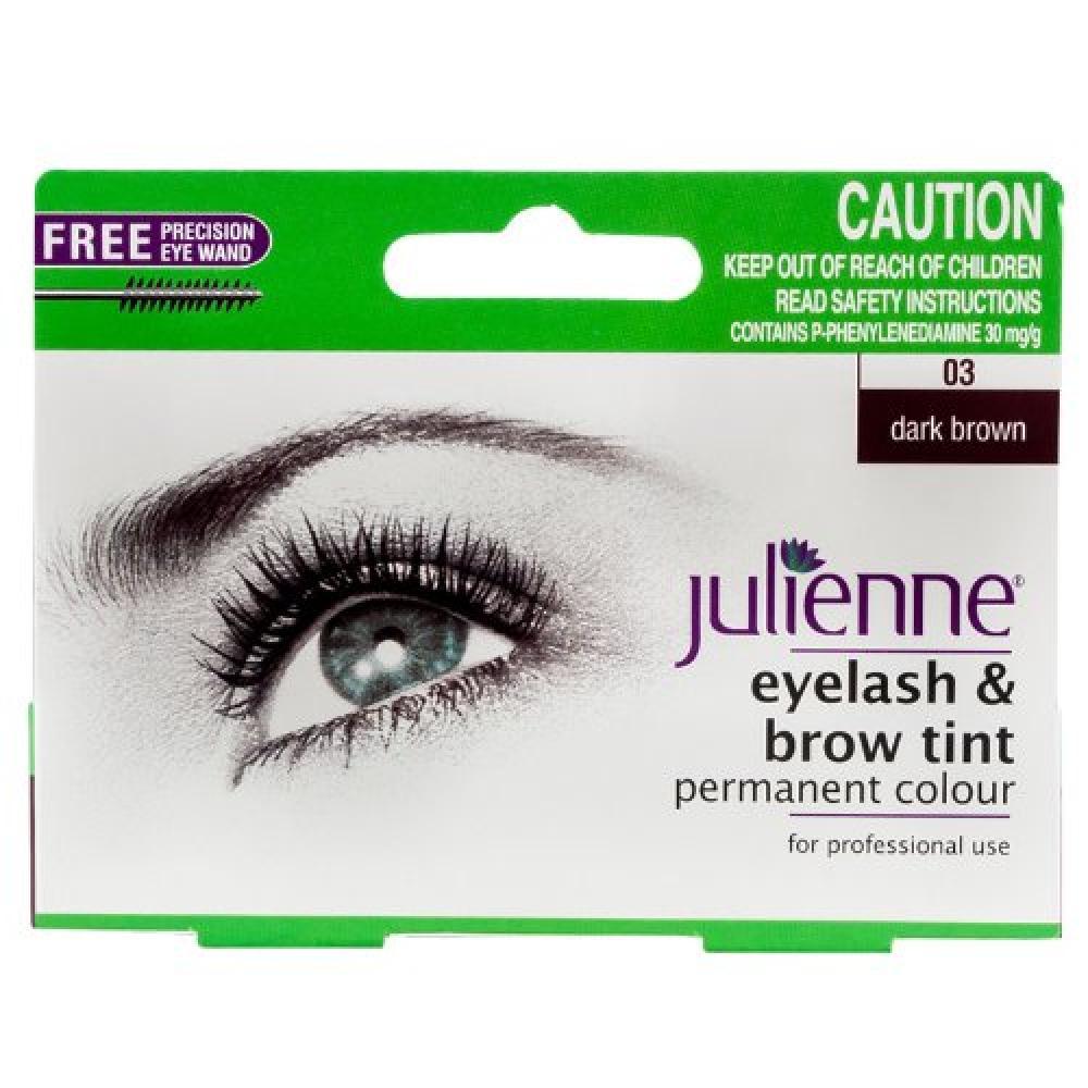 Julienne Eyelash and Brow Tint - Dark Brown