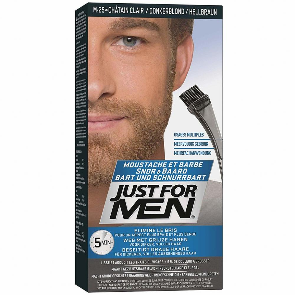 Just For Men M25 - Moustache and Beard Facial Hair Color - Light Brown 2 x 14g