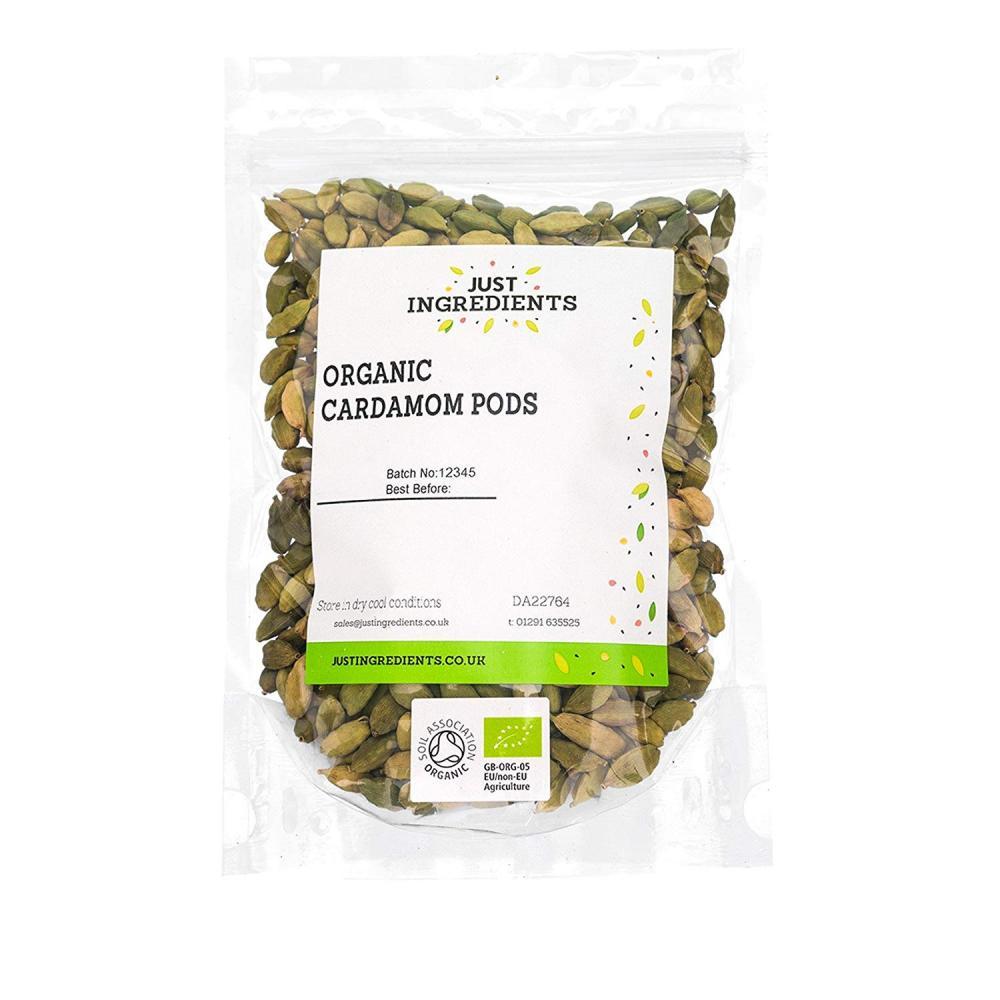 Just Ingredients Organic Cardamom Pods 500g