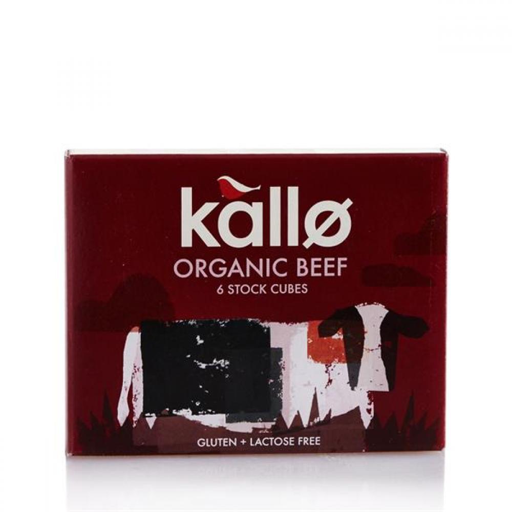 Kallo Organic Beef 6 Stock Cubes 66g