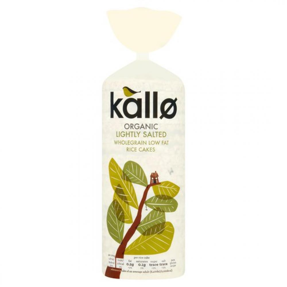 Kallo Organic Lightly Salted Wholegrain Low Fat Rice Cakes 130g