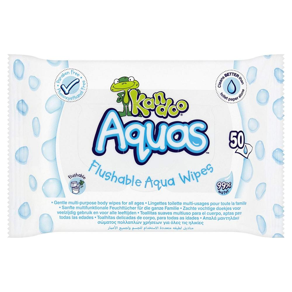 Kandoo Aquas Flushable Aqua Wipes