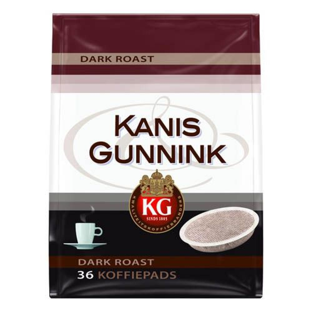 Kanis Gunnik Dark Roast Coffee Pads 36 Pads