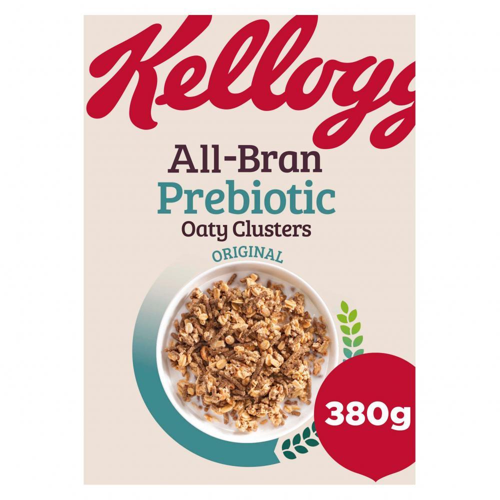 Kelloggs All Bran Prebiotic Oaty Clusters 380g