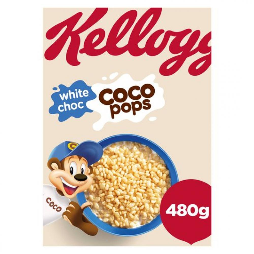 SALE  Kelloggs Coco Pops White Choc 480g