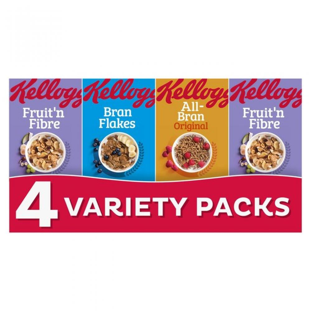Kelloggs Fruit and Fibre 4 Variety Packs