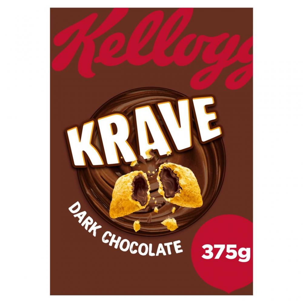 Kelloggs Krave Dark Chocolate 375g