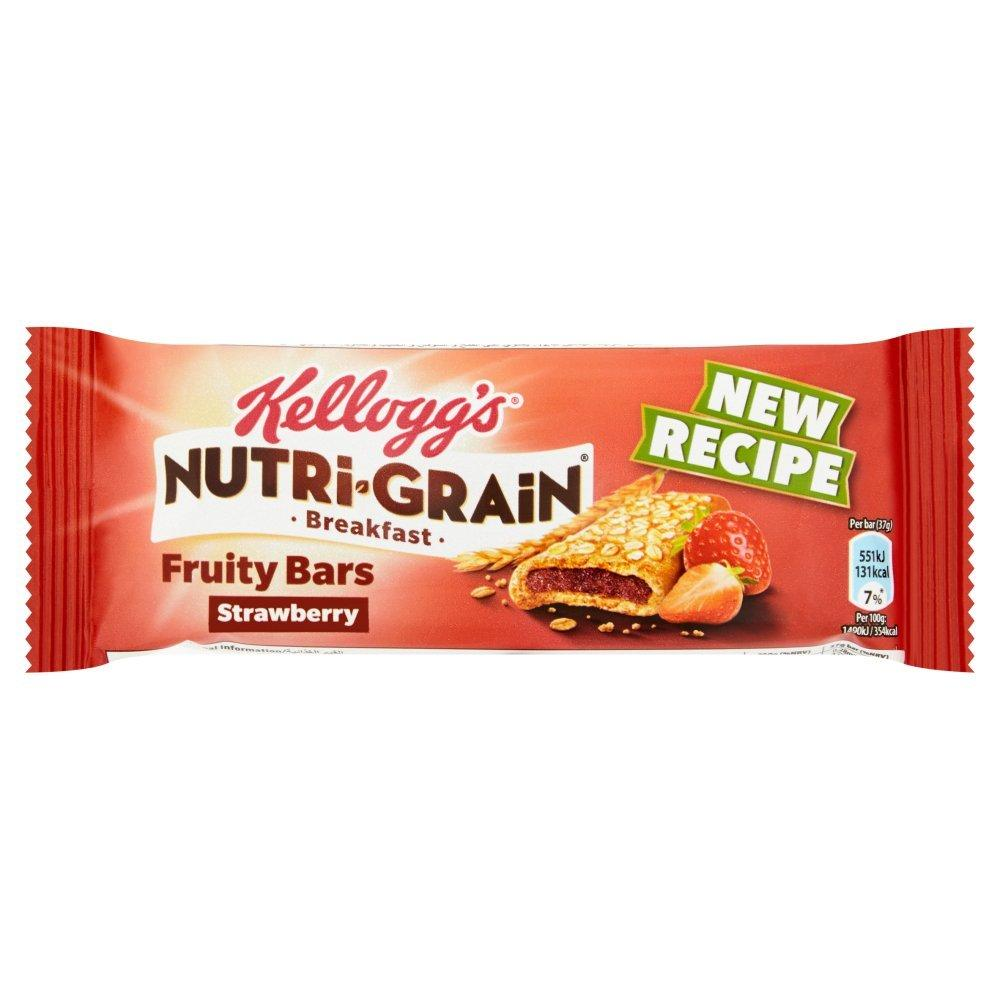 Kelloggs Nutri Grain Breakfast Fruity Bars Strawberry 37g