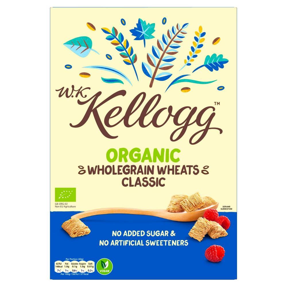 Kelloggs Organic Wholegrain Wheats 450g