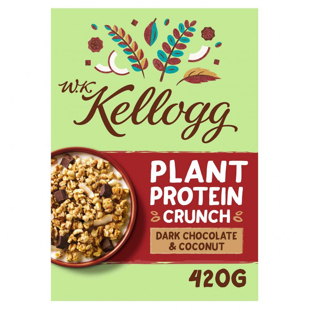 Kelloggs Plant Protein Crunch Dark Chocolate And Coconut 420g