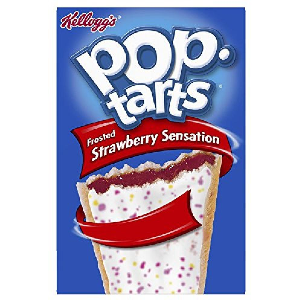 Kelloggs Pop Tarts Frosted Strawberry Sensation 8 Pastries