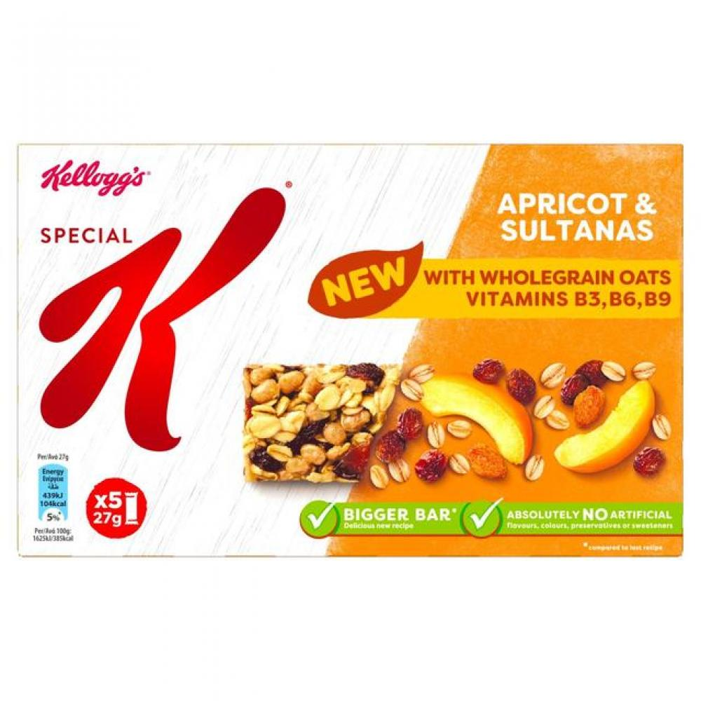 Kelloggs Special K Apricot and Sultana Bars 27g x 5