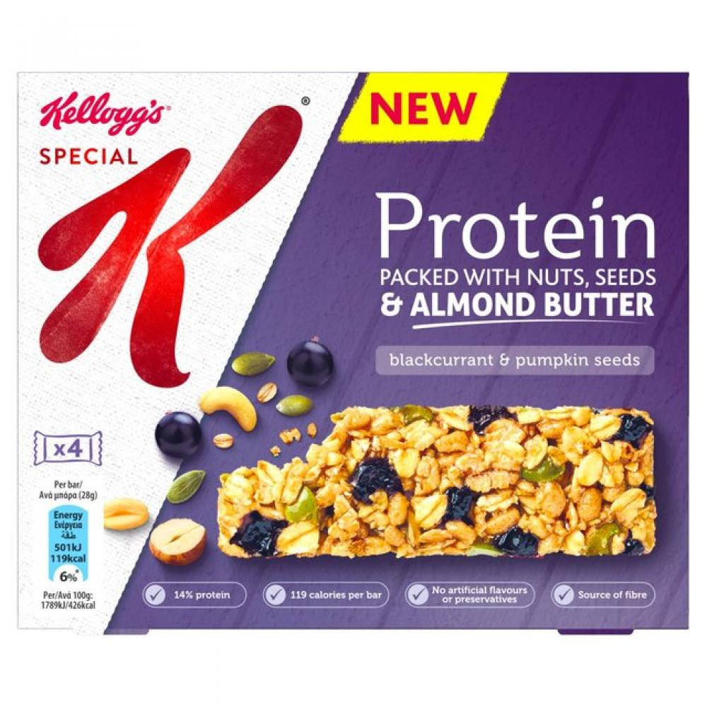 Kelloggs Special K Protein Bar Blackcurrant and Pumpkin Seeds 28g x 4