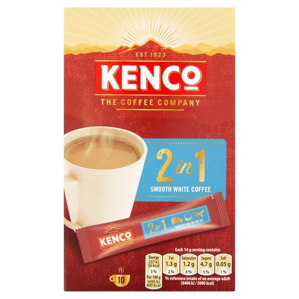 Kenco 2 in 1 Smooth White Coffee 10 Sachets