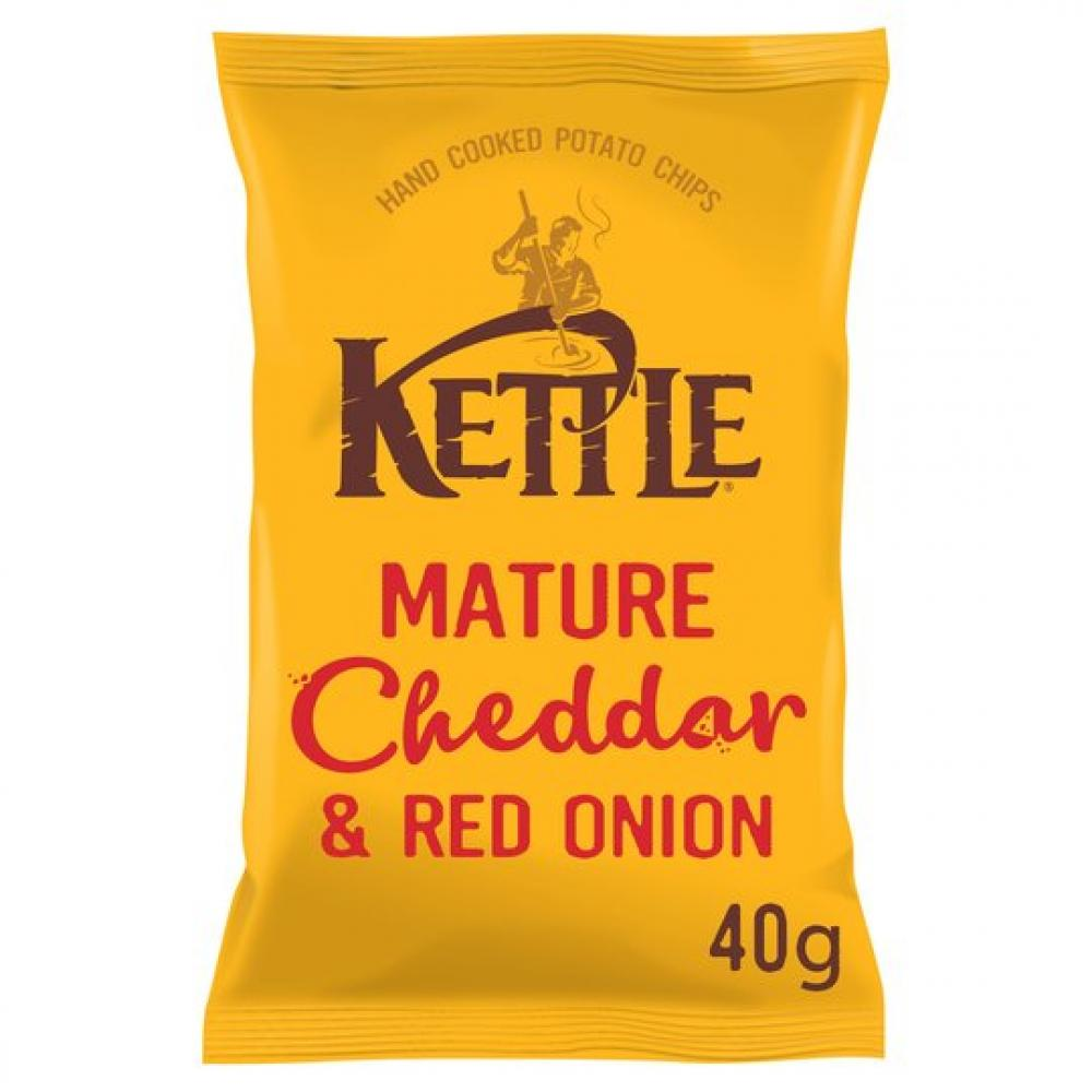 Kettle Chips Mature Cheddar and Red Onion 40g