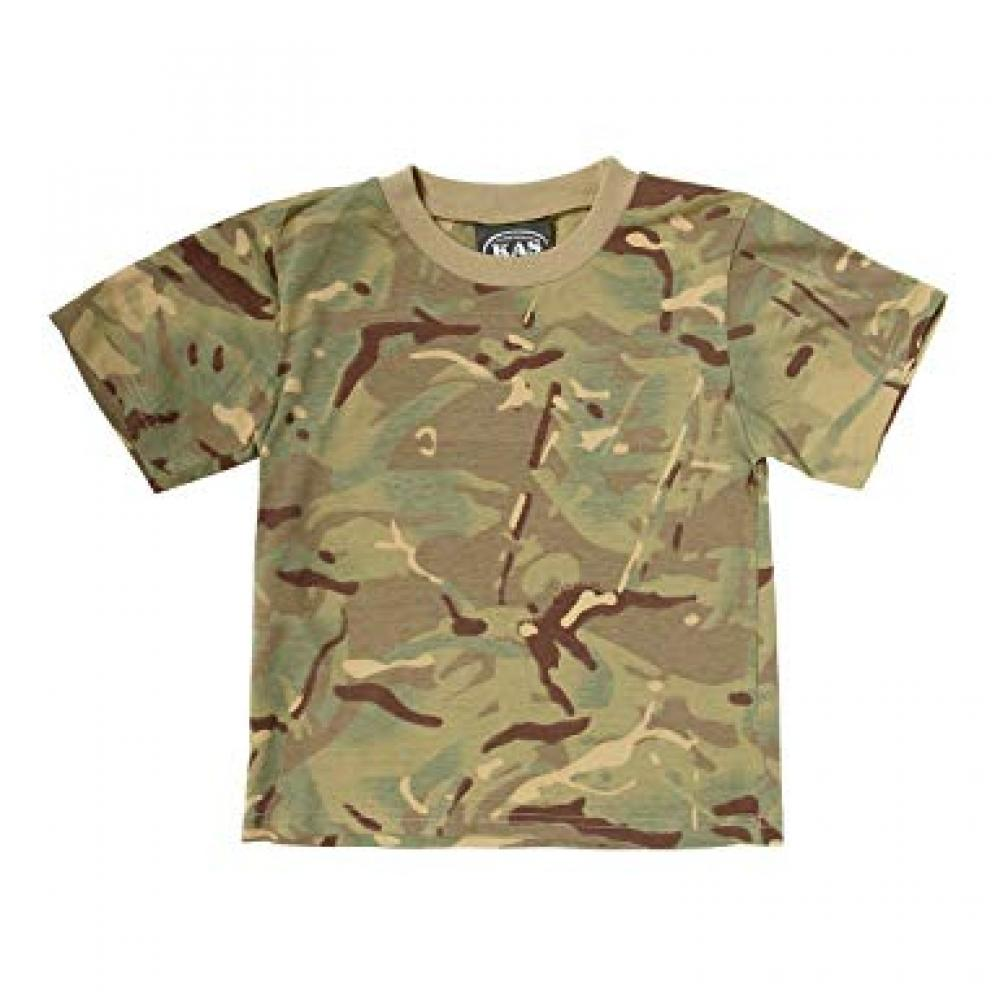 Kids Army Shop MTP Camouflage Cotton T Shirt 5_6 Years
