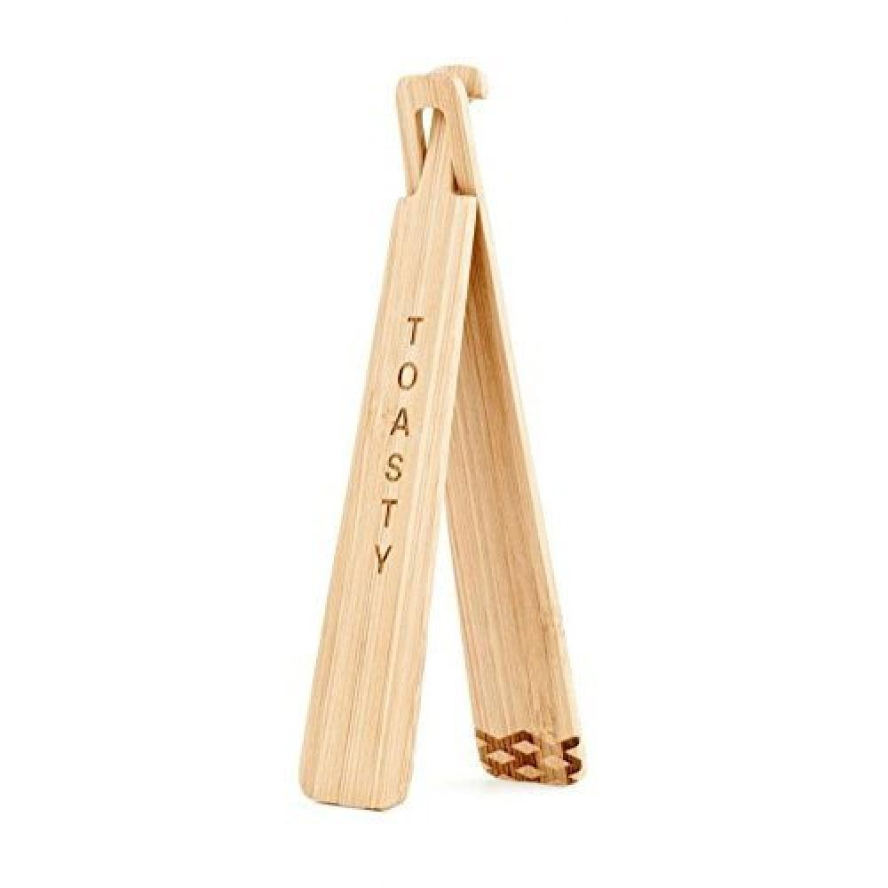 Kikkerland Wooden Toasty Tongs