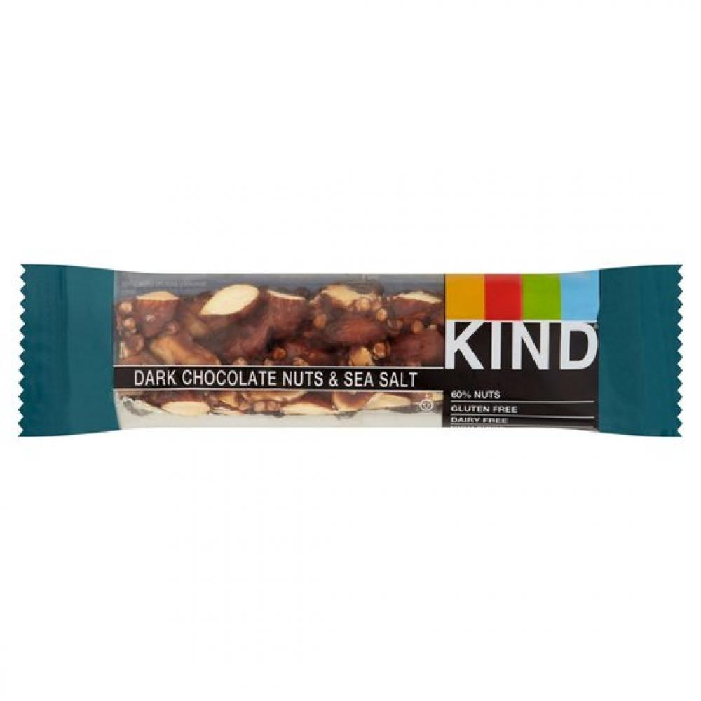 Kind Dark Chocolate Nuts and Sea Salt Bar 40g