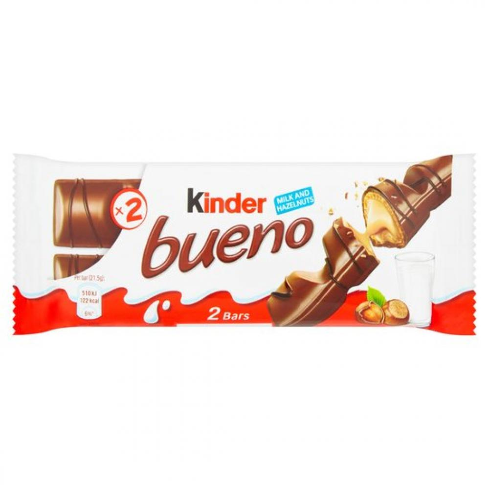 Kinder Bueno Milk And Hazelnuts 43g