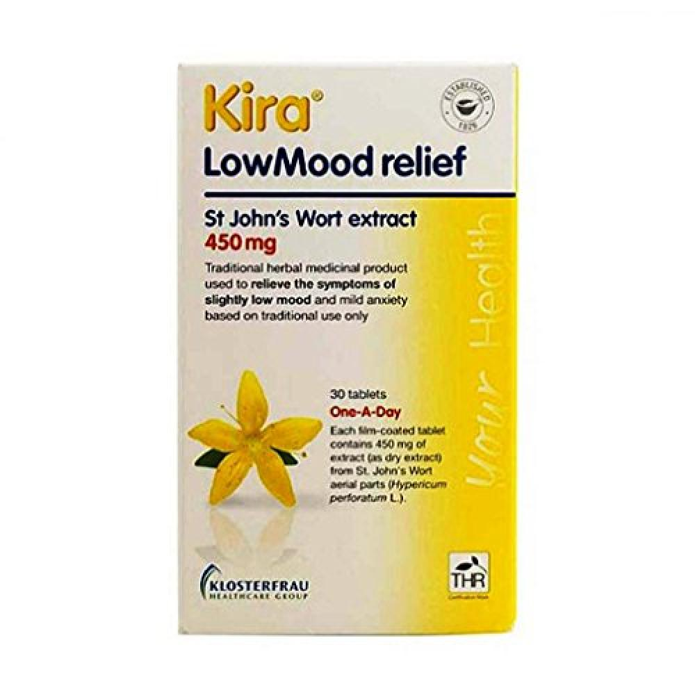 Kira Lowmood Relief One A Day Tablets Pack of 30