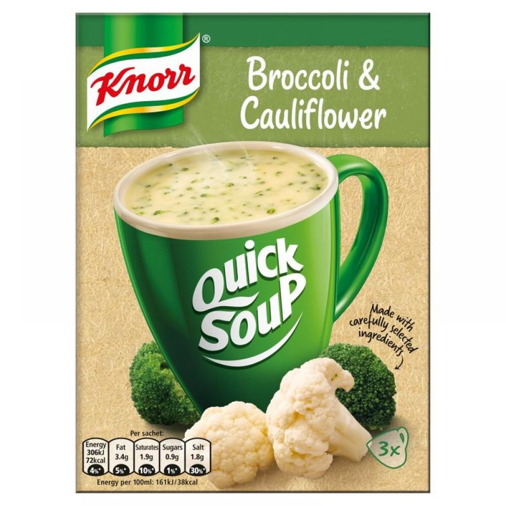 Knorr Quick Soup Broccoli and Cauliflower 3 sachets