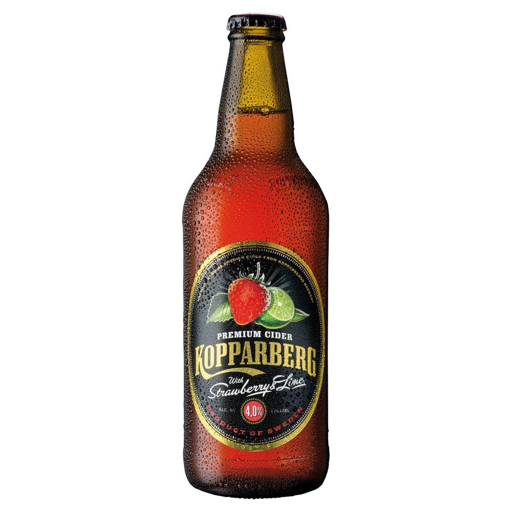 Kopparberg Strawberry and Lime Cider Bottle 500ml
