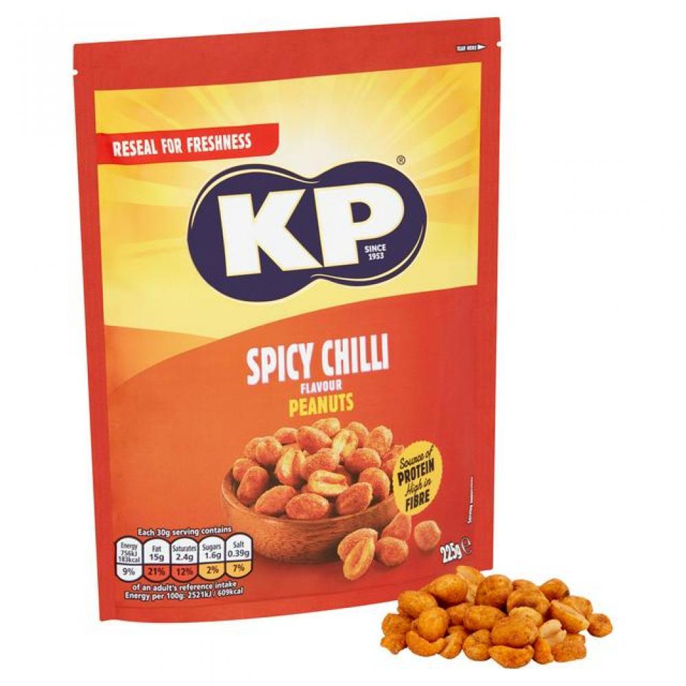 Kp Spicy Chilli Flavour Peanuts 225 g