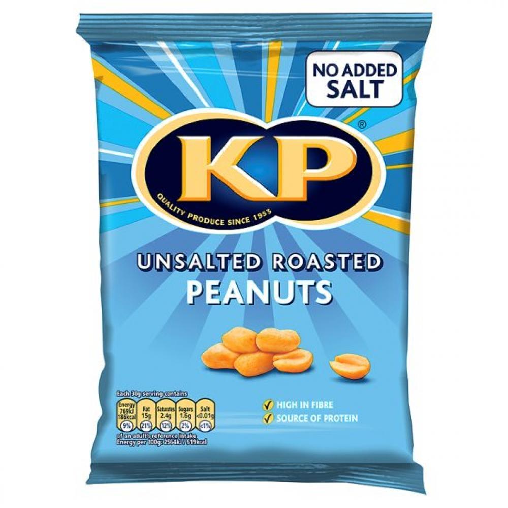 Kp Unsalted Roasted Peanuts 250g