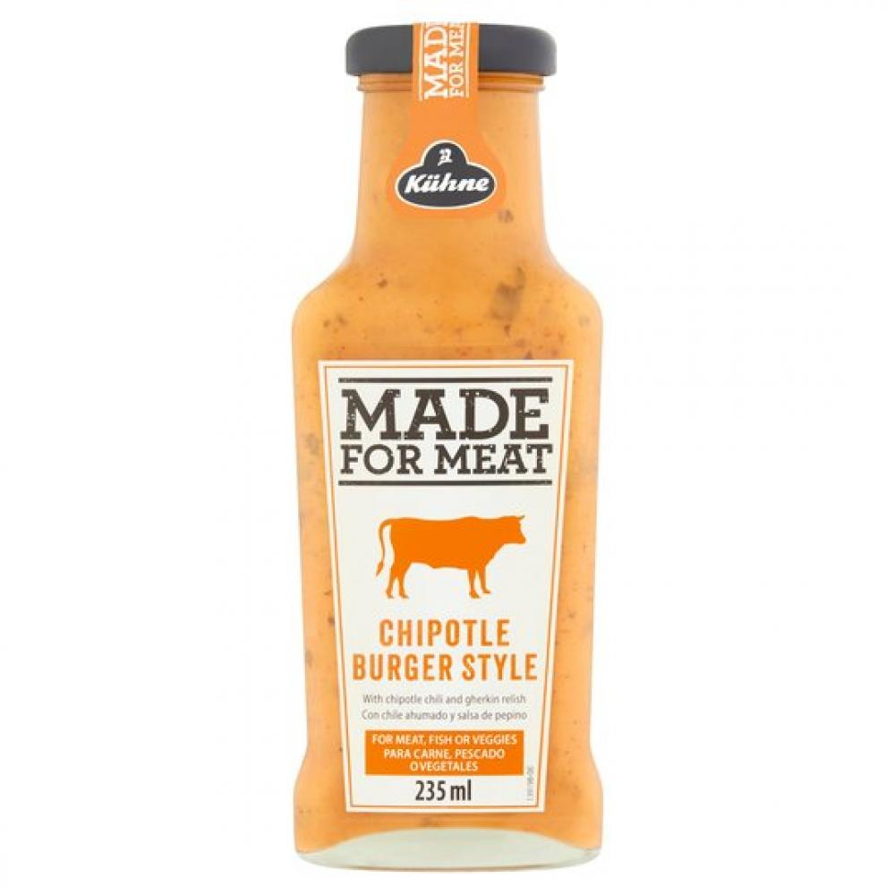SALE  Kuhne Made For Meat Chipotle Burger Style Sauce 235ml