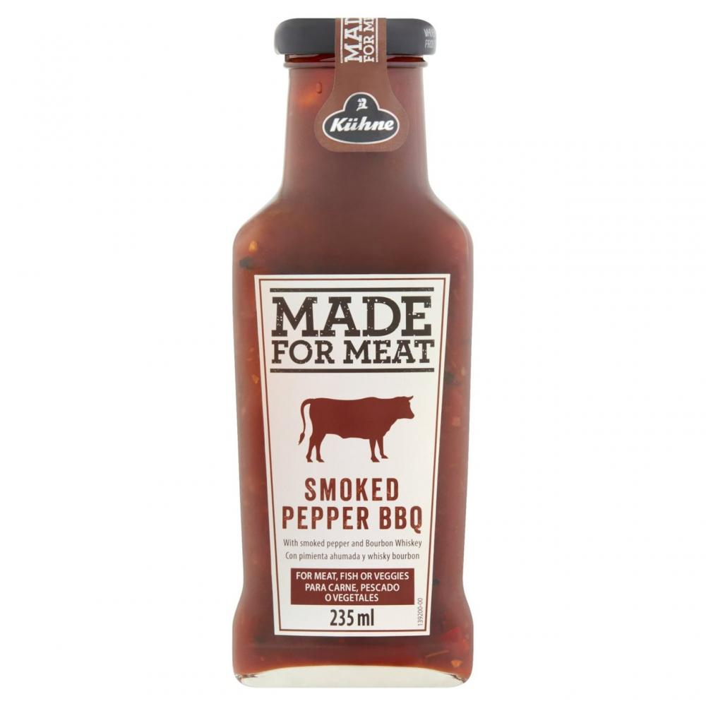 MEGA DEAL  Kuhne Made For Meat Smoked Pepper BBQ Sauce 235ml