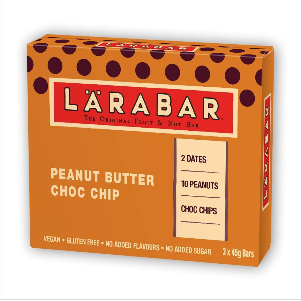 Larabar Peanut Butter Choc Chip Fruit And Nut Bar 3x45g