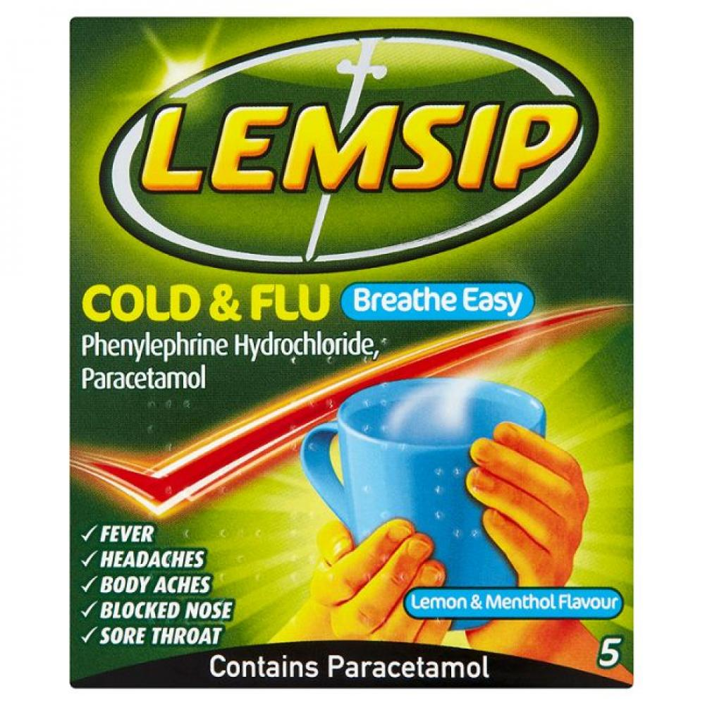 Lemsip Cold and Flu 5 sachets