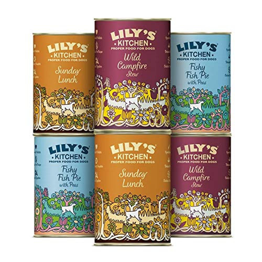 Lilys Kitchen Grain Free Multipack Wet Dog Food 6 x 400 g Damaged Box