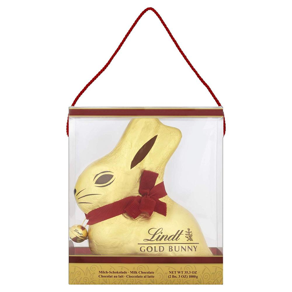 Lindt Giant Milk Chocolate Gold Bunny In An Easter Presentation Carrier Gift Box 1kg