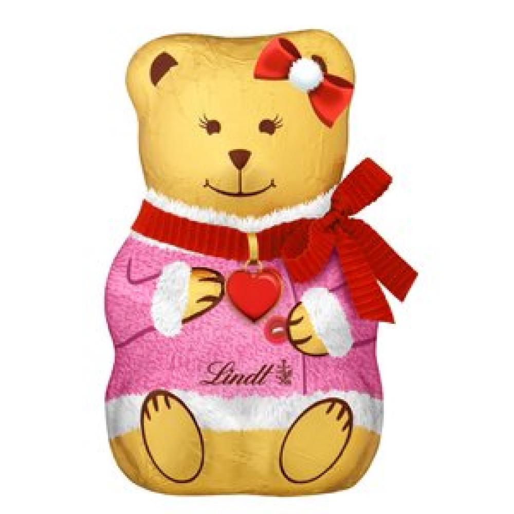 Lindt Milk Chocolate Teddy Pink 100g