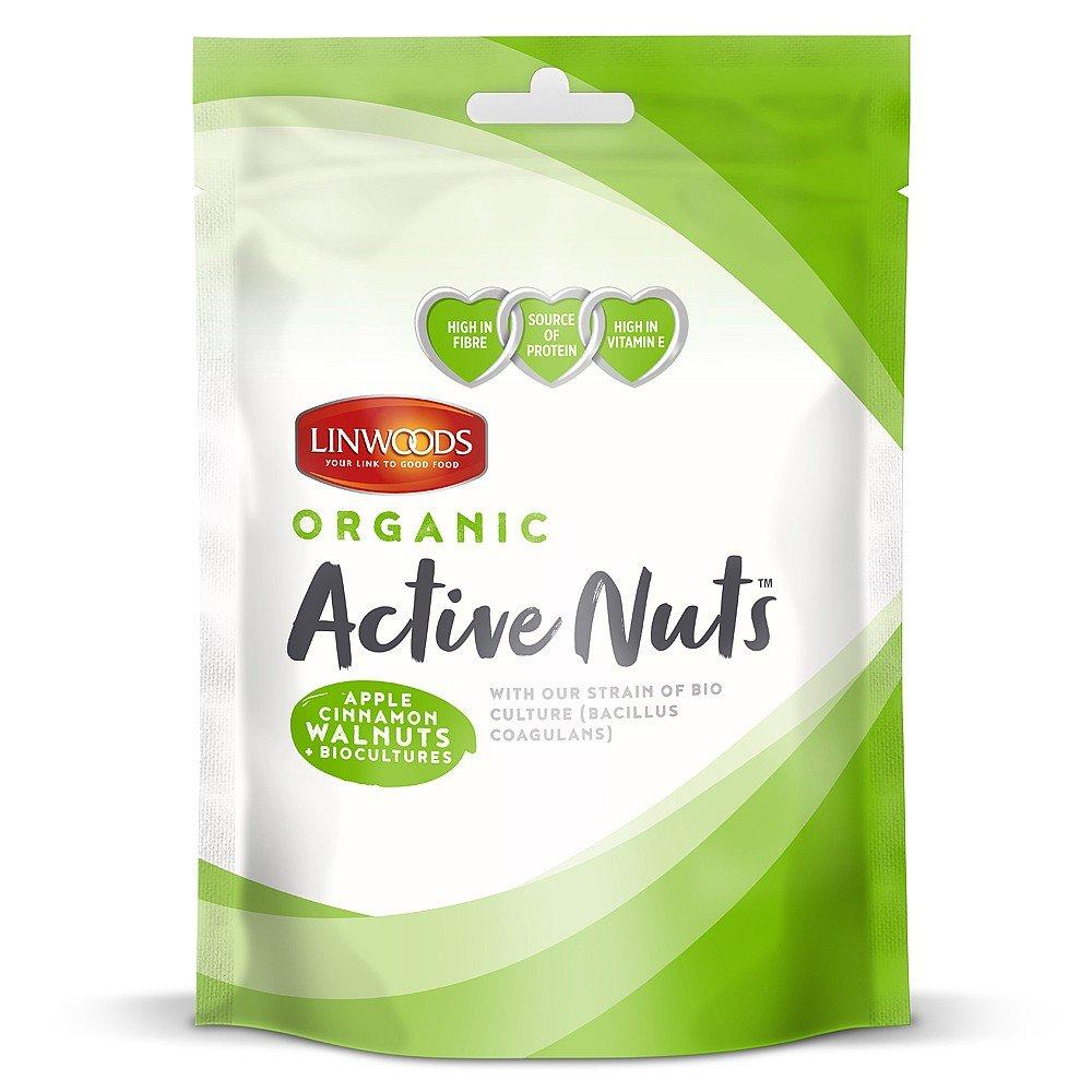 Linwoods Active Nuts Apple and Cinnamon Walnuts 50g