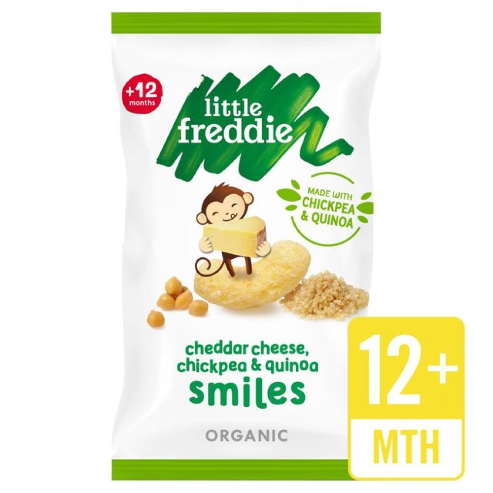 Little Freddie Cheddar Cheese Chickpea and Quinoa Smiles 4 x 11g