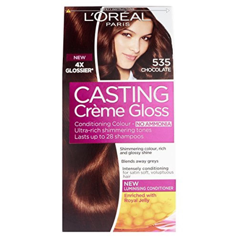 LOreal Casting Creme Gloss 535 Chocolate Brown Semi Permanent Hair Dye