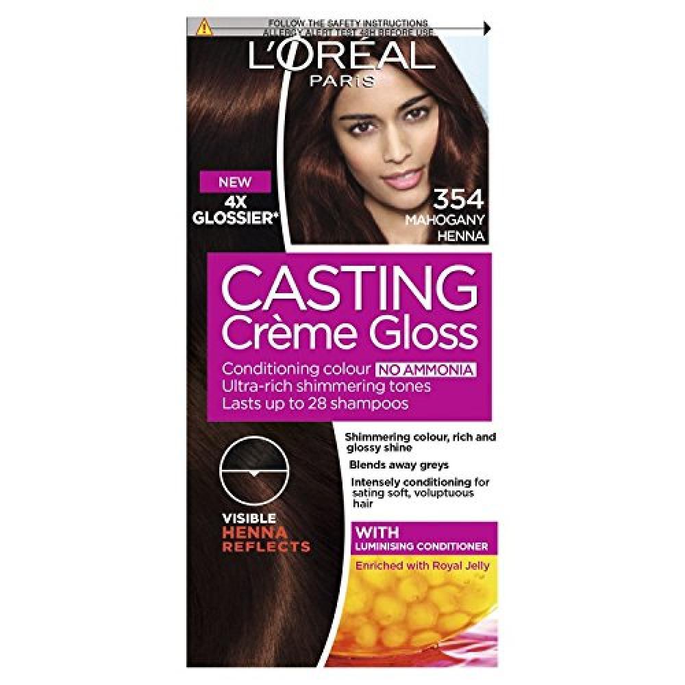 Loreal Casting Creme Gloss Hair Dye354 Mahogany Henna Copper Brown