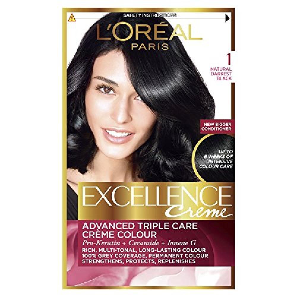 LOreal Excellence Creme 1.01 Blackest Black Hair Dye